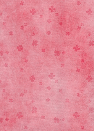 Red Clover on gunge white and red paper gift texture background Stock Photo - 13803739