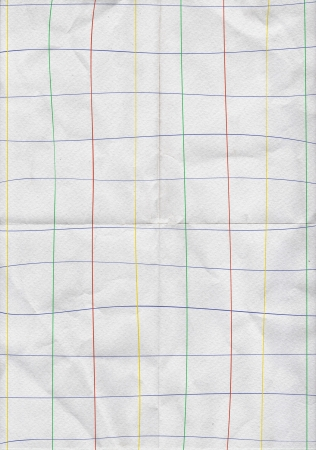 White folding paper with graph color line background Stock Photo - 13803279