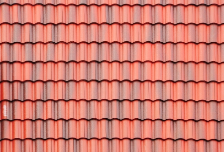 roofing: close up of red roof texture