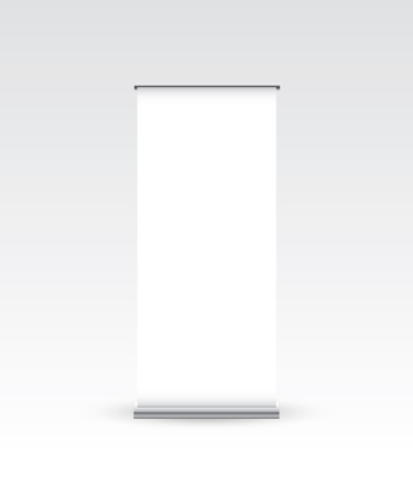 display stand: Blank roll up banner