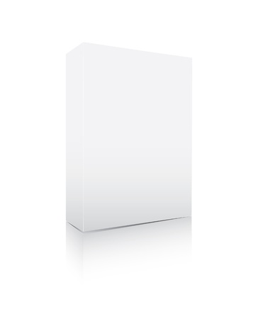nameless: Blank software box isolated on white Illustration