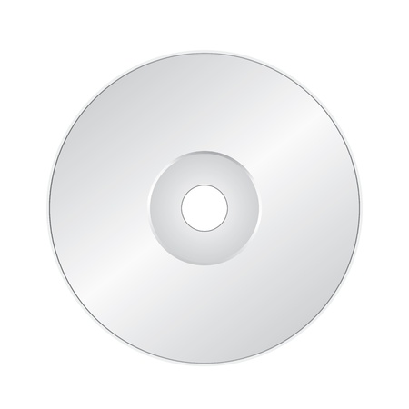 blueray: CD or DVD on white