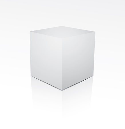 Cube on white background Vector