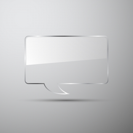 realistic glass speech bubbles 版權商用圖片 - 13928865