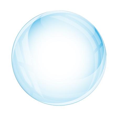 esfera de cristal: Esfera de cristal aislado en blanco