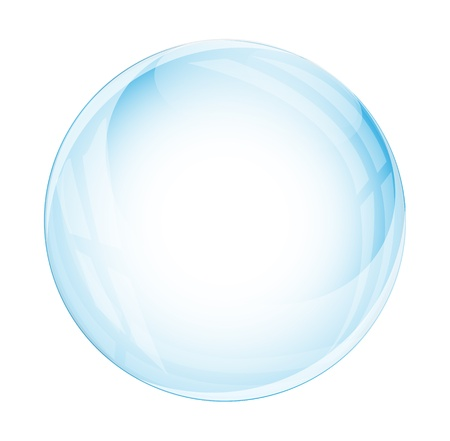 Glass sphere isolated on white Illustration