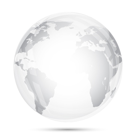Globe glass isolated on white Imagens - 13928884
