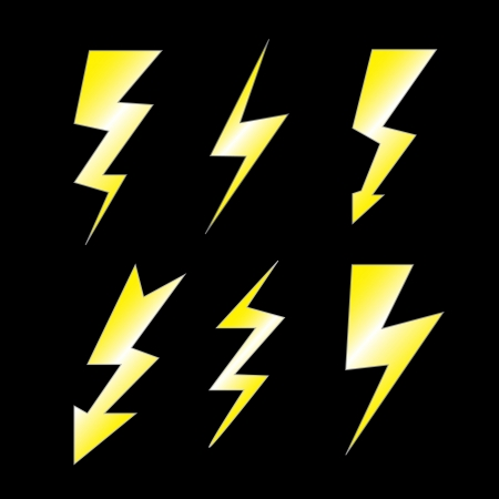 Set of lightning Stock Vector - 13928835