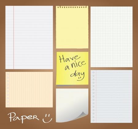 Set of paper designed Illustration