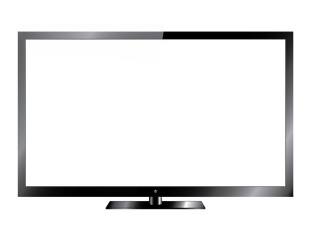 screen tv: Silver Led or Lcd TV Illustration