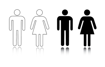 Restroom icon male and female Vector