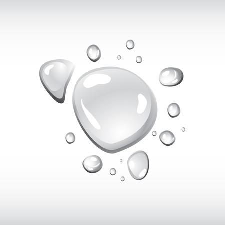 organic fluid: Water drops