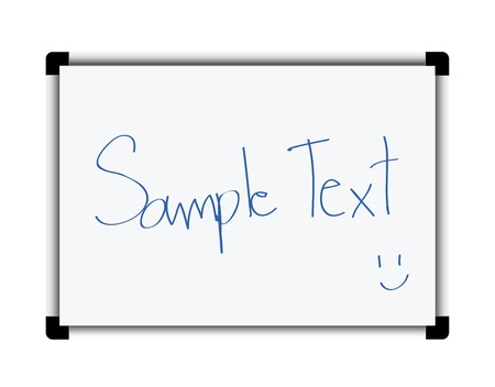 White board isolated on white Stock Vector - 13928832