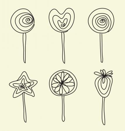 Hand drawing lollipops cartoon doodle Stock Vector - 14122144