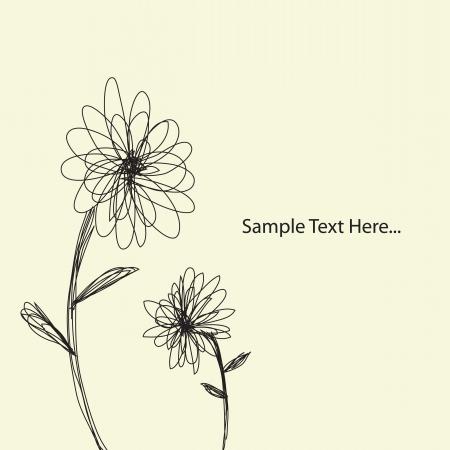 posterity: Hand drawn flower background Illustration