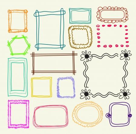 wedding photo frame: Disegnata a mano cornici
