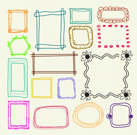 wedding photo frame: Hand drawn  photo frames