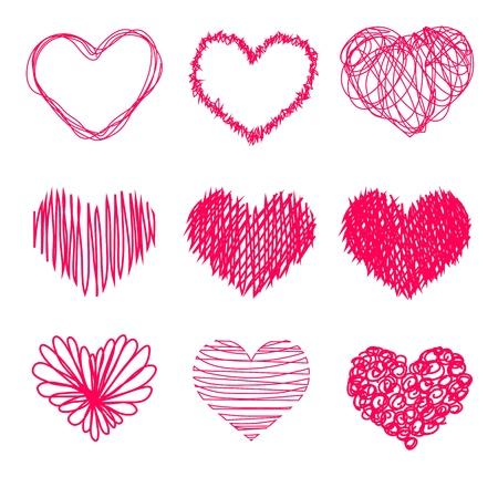 Hand drawn heart shape 版權商用圖片 - 14122219
