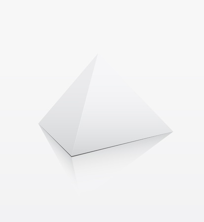 White pyramid on white background Vector
