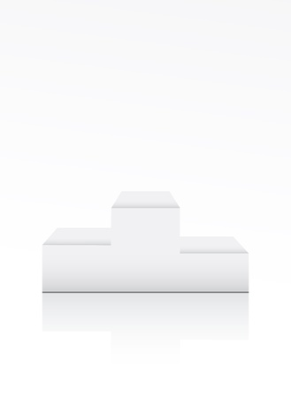 Blank winner podium on white Vector
