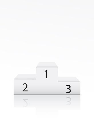 Sieger Podest mit der Nummer auf weißem Vektorgrafik