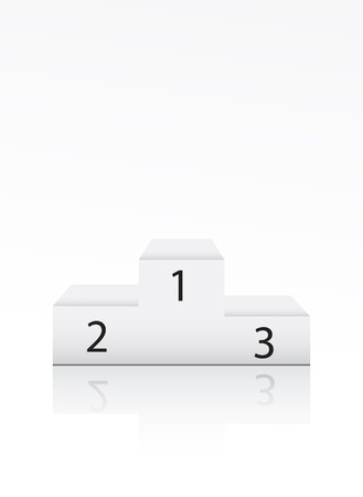 Winner podium with number on white Illustration