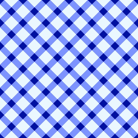 Blue and white checked tablecloth Vector