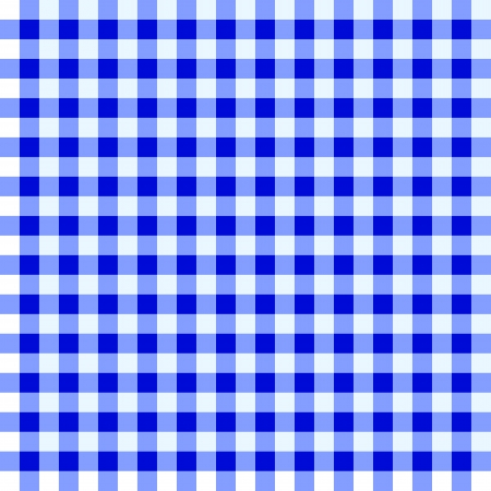 Blue and white checked tablecloth Stock Vector - 14122163
