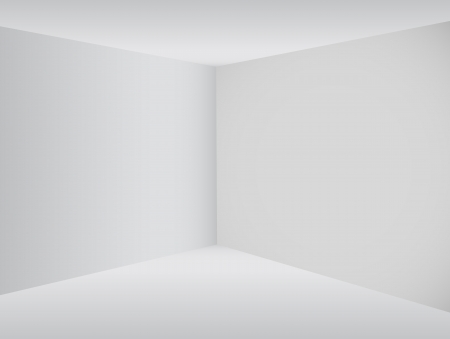Empty corner in the room Vector