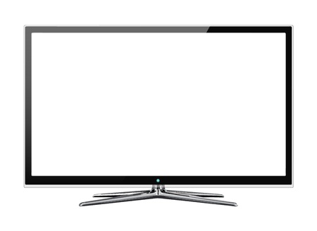 정면: 흰색에 고립 된 와이드 스크린 LCD와 LCD 모니터의 정면보기 일러스트