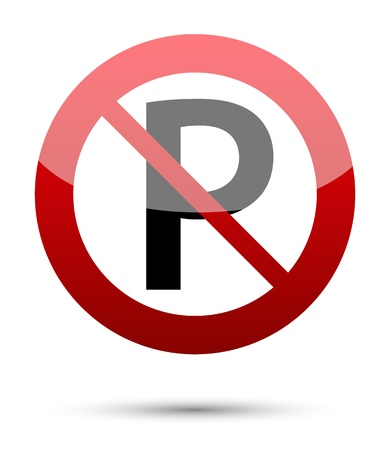 parking is prohibited: No parking sign on white