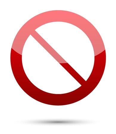 divieto: Nessun segno su sfondo bianco