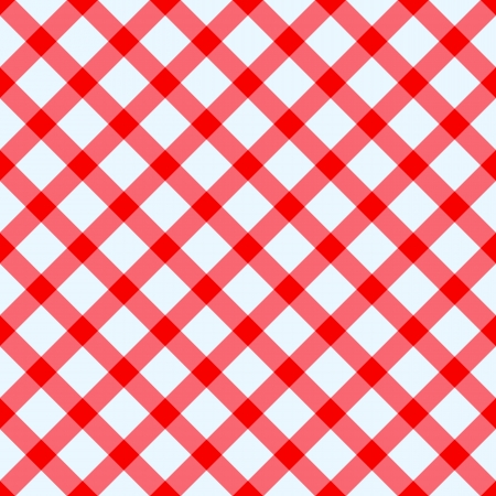 chequered drapery: Red and white checked tablecloth