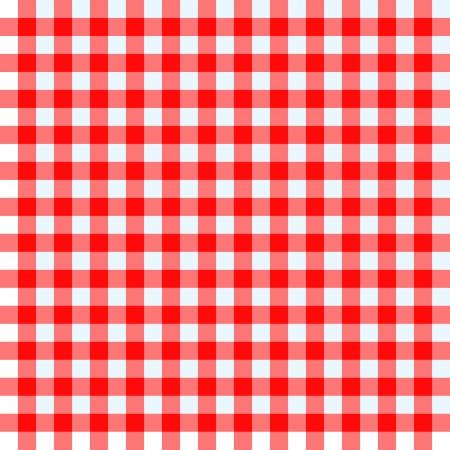 Red and white checked tablecloth Vector