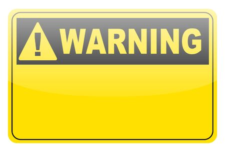 Blank warning lable on white Stock Photo - 14399643