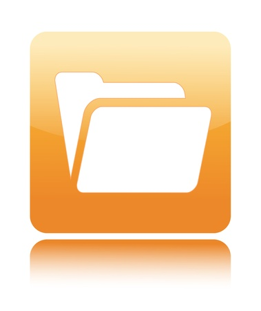 Folder icon on white background photo