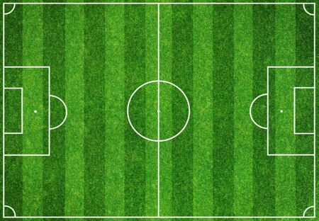 Soccer green field background photo
