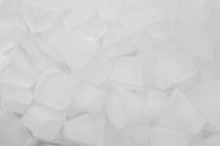 White ice cubes texture background photo