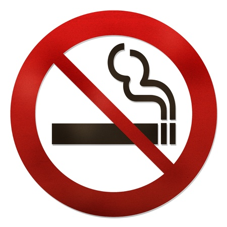 No smoking sign paper craft