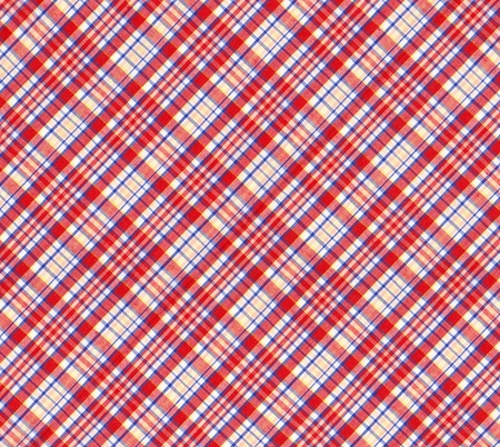 Texture of tablecloth tartan pattern fabric  red,blue,yellow,white  Stock Photo - 15115386