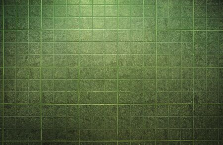 Texture of green tiles background photo