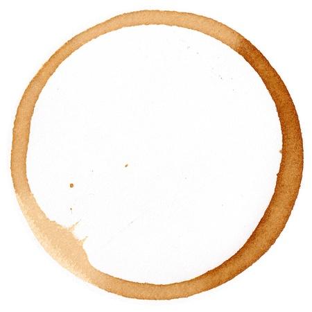 manchas de cafe: Taza de caf� de marca blanca Foto de archivo