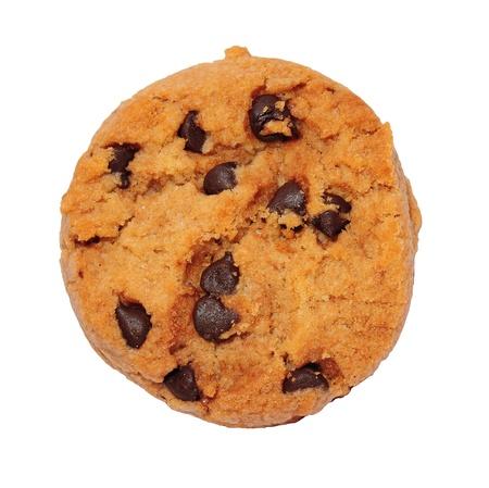 초콜릿 칩 쿠키에 격리 된 화이트