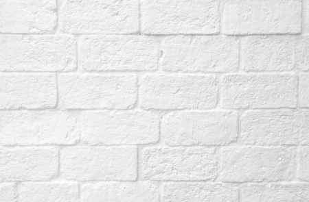 Texture of white brick wall photo