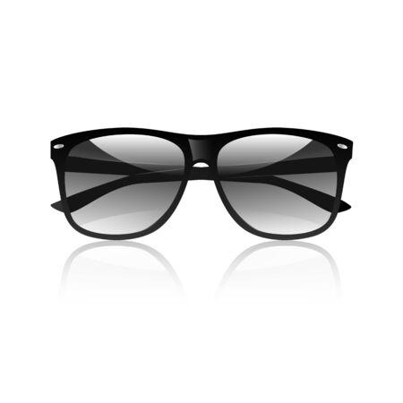 Black sunglasses isolated on white background photo