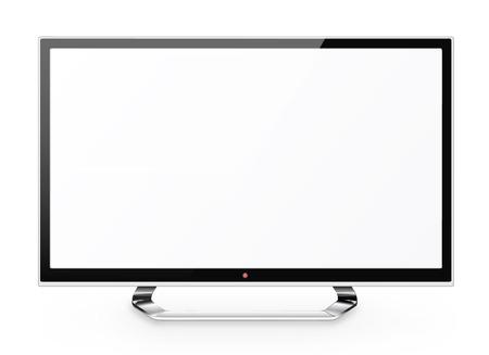 definicion: Vista frontal del monitor o llevado lcd tv internet aisladas sobre fondo blanco Foto de archivo