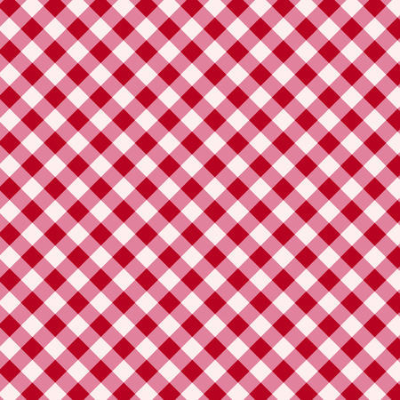 Red and white tablecloth background Vector