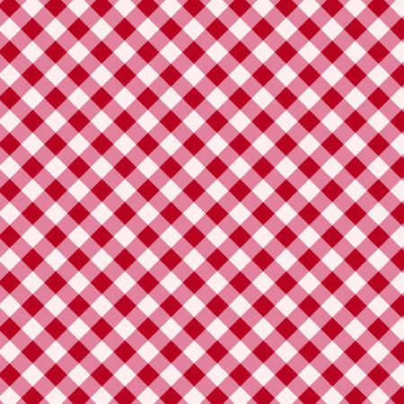 红色和白色的桌布背景
