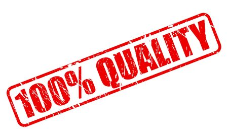 100 percent quality red stamp text photo