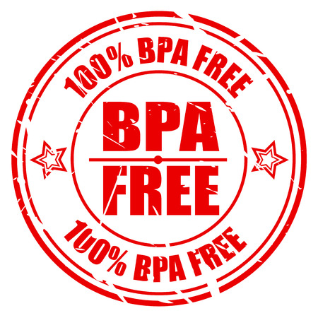phthalates: 100 PERCENT BPA FREE red stamp text on white